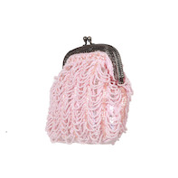 Draped frame bag Pink