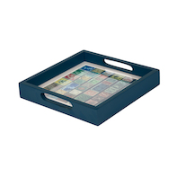 Stamp collector tray