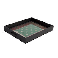 Floral lap tray Green