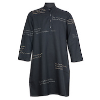 Calligraphy kurta Black